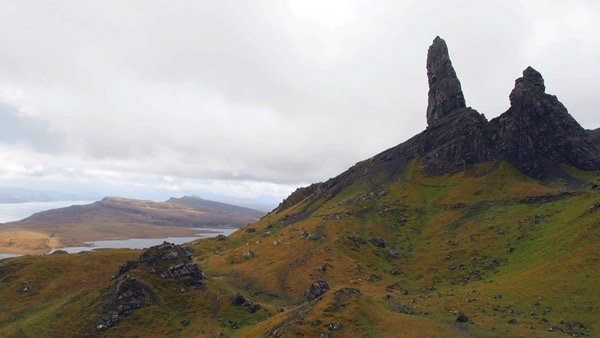 Le vieil homme - The Old Man of Storr pendant le trek Ecosse