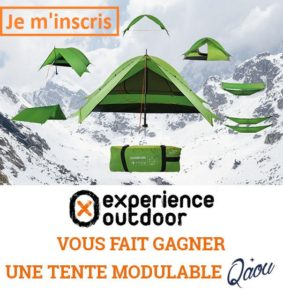 Newsletter Gagner 1 tente QAOU avec Experience Outdoor