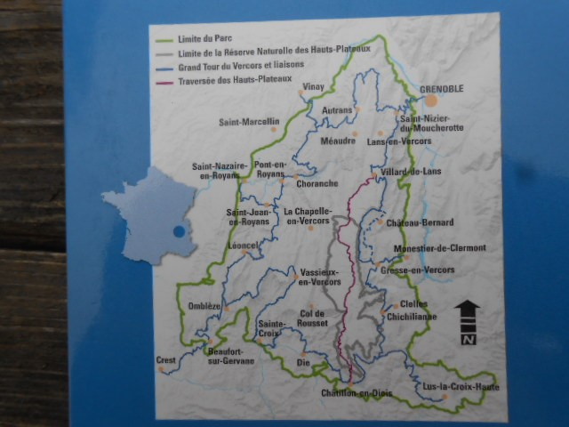 Carte du Grand tour du Vercors