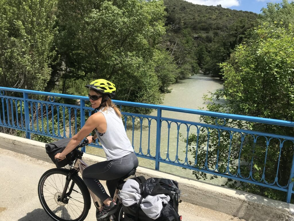 Traversée du Toulourenc à vélo